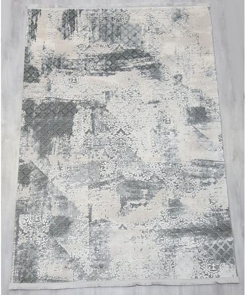Ковер VIOLET 2610B клей прямой кремовый/т.серый