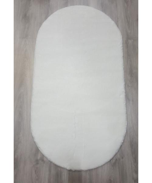 Ковер RABBIT 1000 оверлок овальный белый/белый