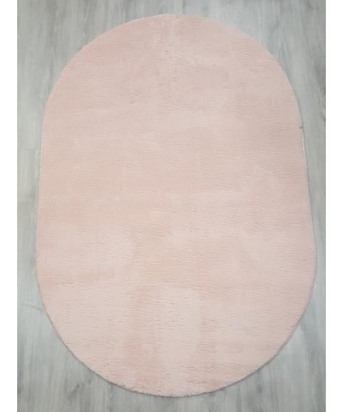 Ковер RABBIT 1004 оверлок овальный розовый/розовый