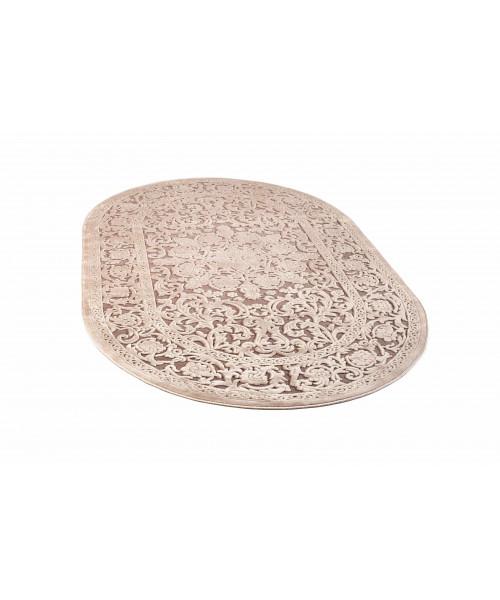 Ковер GLORIA 3793A оверлок овальный кремовый/кремовый