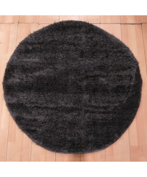 Ковер LIGHT STYLE 0000U оверлок круглый серый/серый