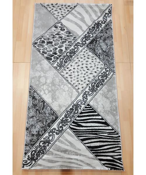 Ковер ZEUGMA 3384A клей прямой белый/с.серый
