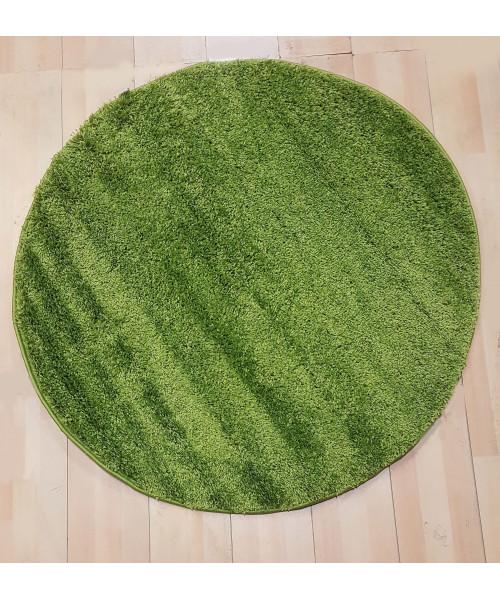 Ковер LIGHT SHAGGY 0000R оверлок круглый т.зеленый/т.зеленый