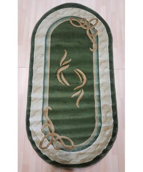 Ковер ESTETIK 0200R оверлок овальный зеленый/зеленый