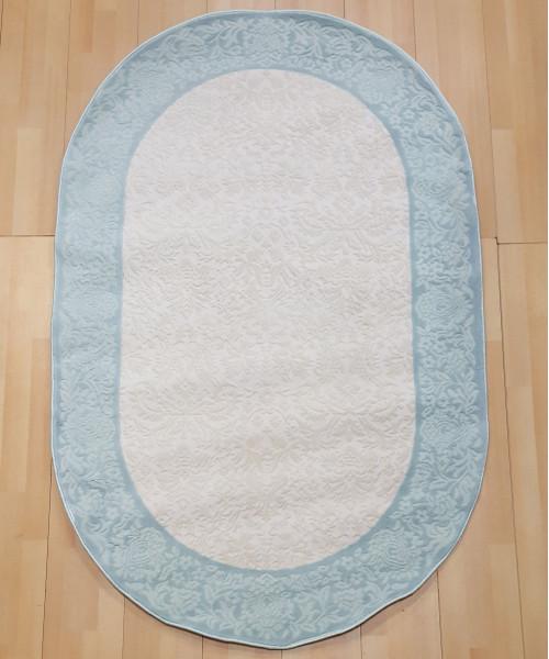 Ковер AMBIANCE 1153 оверлок овальный белый/синий