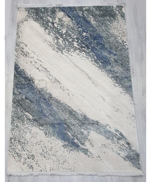 Ковер VIOLET 2620B клей прямой кремовый/с.голубой