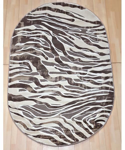 Ковер PEGAS 3860F оверлок овальный с.коричневый/с.коричневый