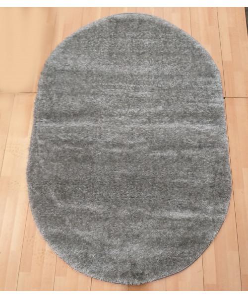 Ковер LIGHT STYLE 0000U оверлок овальный серый/серый