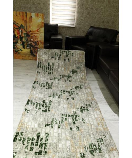 Ковер NEPTUN 205 клей прямой белый/зеленый