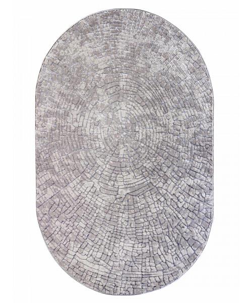 Ковер AMBIANCE 3963A оверлок овальный серый/серый