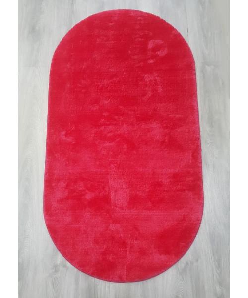 Ковер RABBIT 1001 оверлок овальный красный/красный