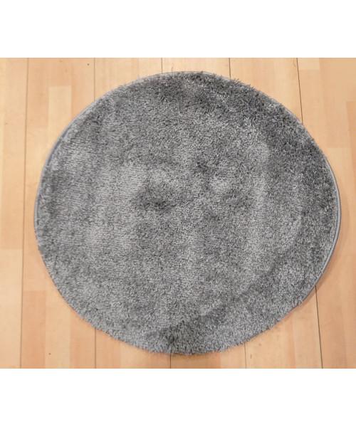 Ковер LIGHT SHAGGY 0000R оверлок круглый серый/серый