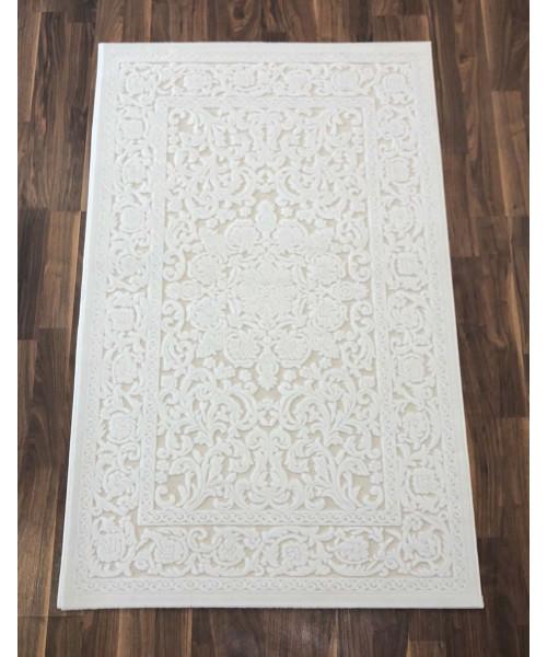 Ковер GLORIA 3793A клей прямой белый/белый