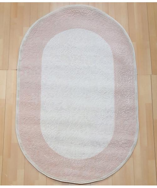 Ковер AMBIANCE 1106 оверлок овальный с.розовый/белый