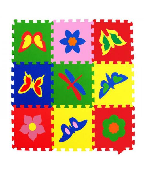 Мягкие полы Ekoprom Eco Cover Бабочки Цветная плитка