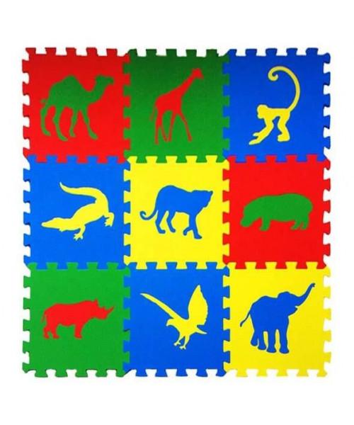 Мягкие полы Ekoprom Eco Cover Сафари Цветная плитка